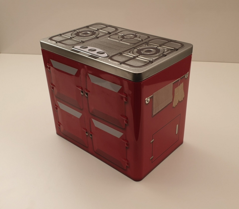 Metaldåse rød