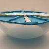 Plastskål med gaffel og lille dressing skål