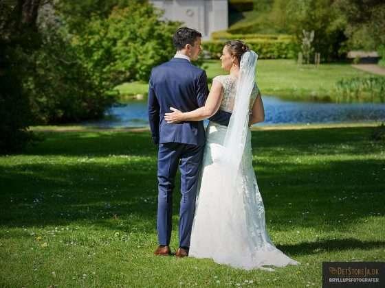 bryllupsfotograf aarhus brudepar mindeparken