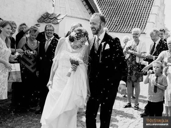 bryllup fotograf brudepar riskast familie