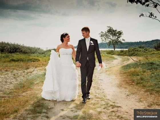 bryllupsfotograf brudepar smuk baggrund natur