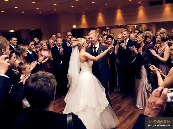 bryllupsfotografering brudevalsen hvide hus