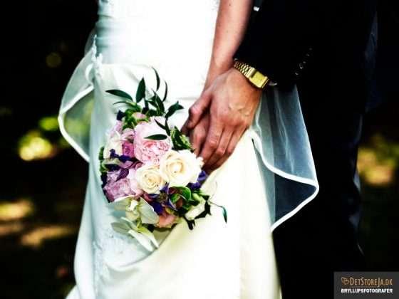 bryllupsfotograf close-up buket uden ansigter