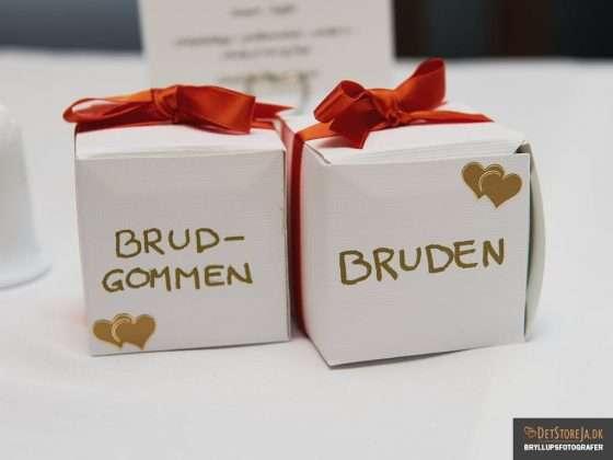 bryllup detalje på bord