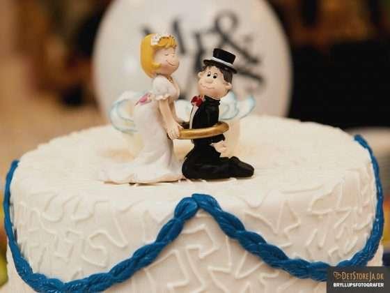 humoristisk bryllupskagedetalje