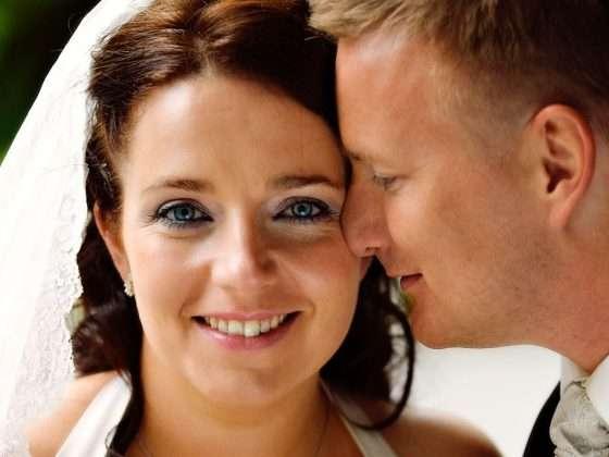 bryllupsbillede smuk brud med flotte øjne