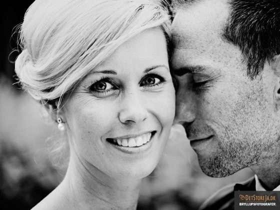fotograf til bryllup smuk skandinavisk brud