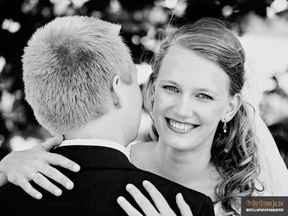 bryllup fotograf smuk smilende brud sh