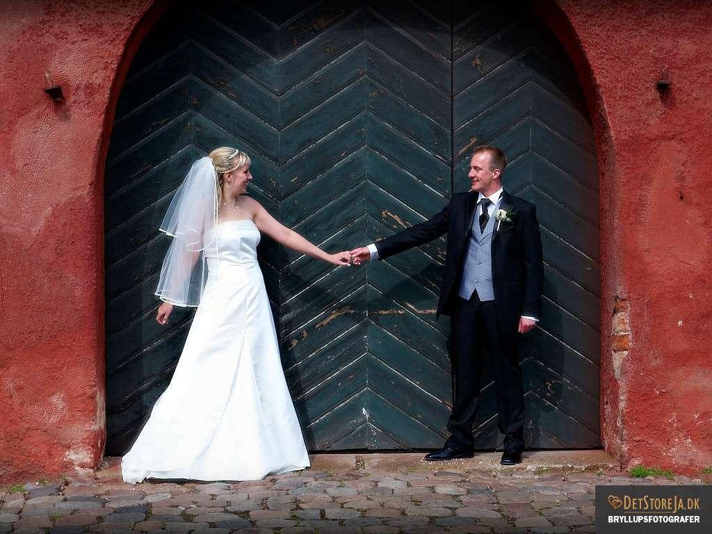 bryllupsfotograf trekantsområdet koldinghus port