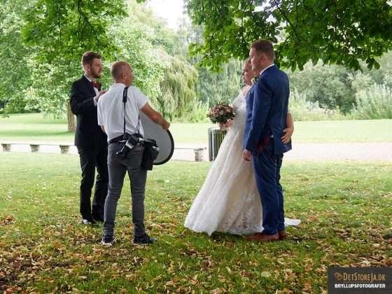 bryllupsfotografen på arbejde