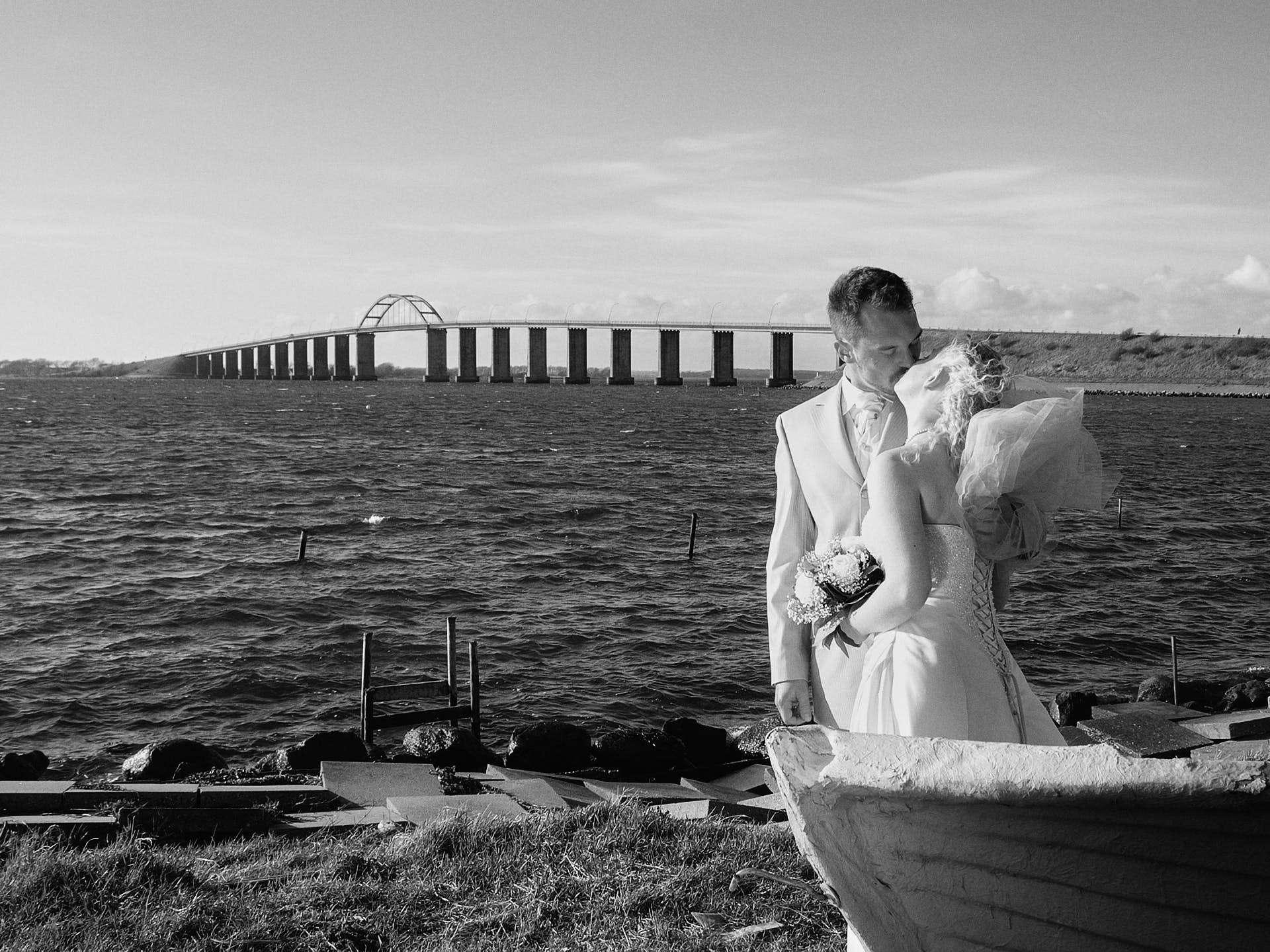 bryllupsfotografen på arbejde sol