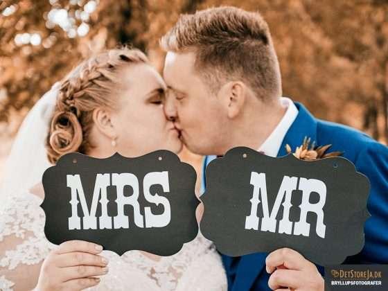 bryllupsfotograf horsens portraet af brudepar