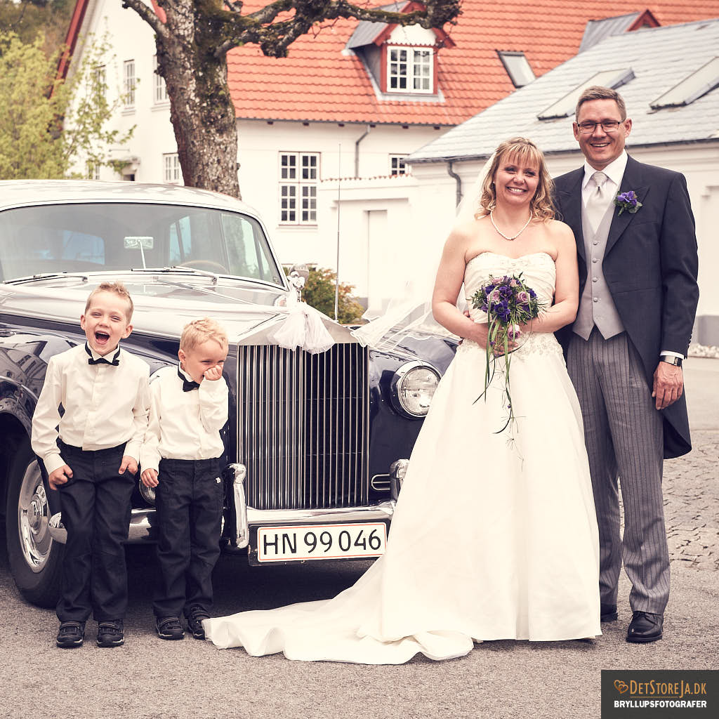 bryllupsfotograf silkeborg brudepar børn