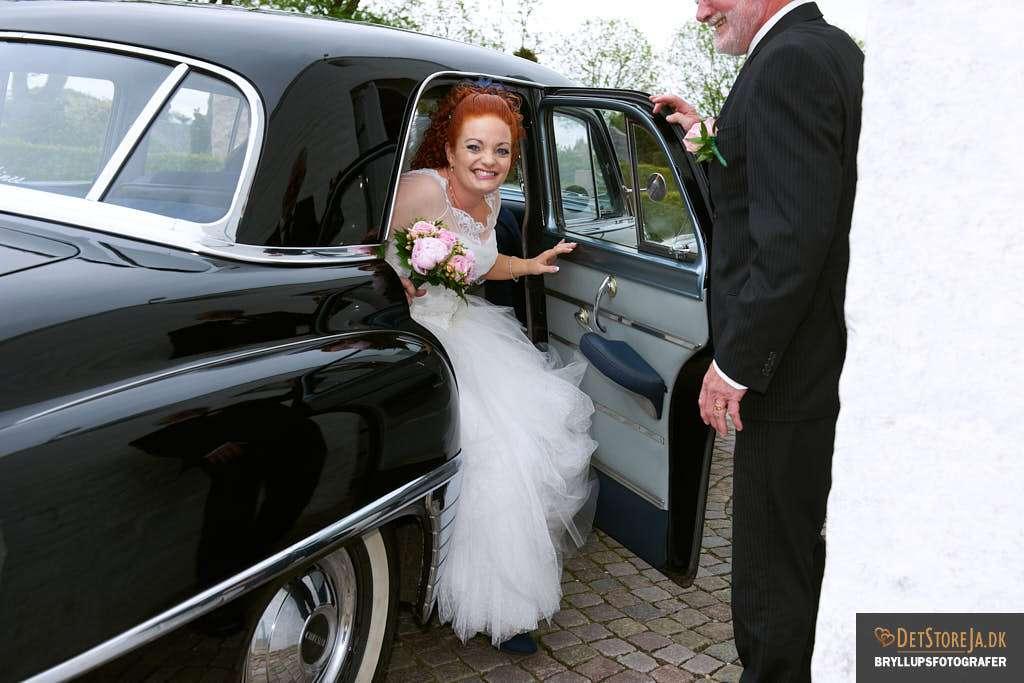 bryllupsfotograf hobro brudebil