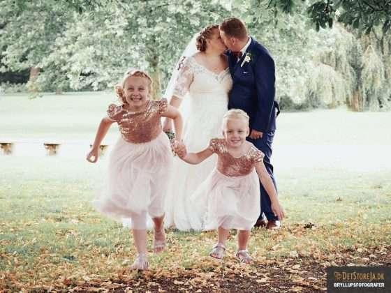 fotograf bryllup-horsens brudepar og boern