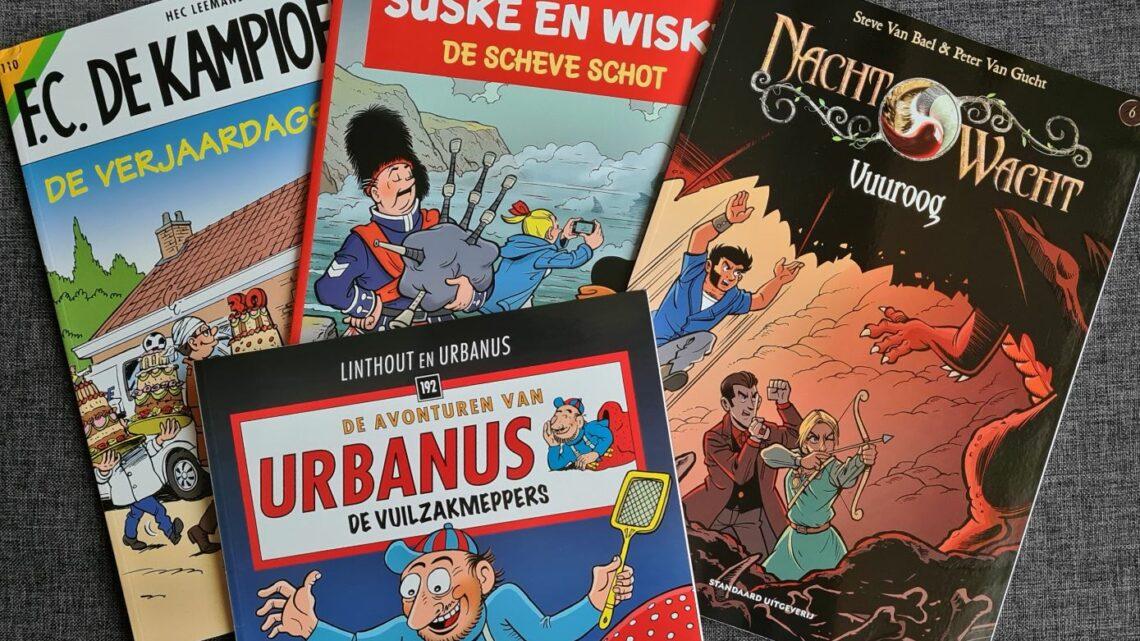 Dompel je onder in de nieuwe stripavonturen van Suske en Wiske, Urbanus, De Kampioenen en Nachtwacht