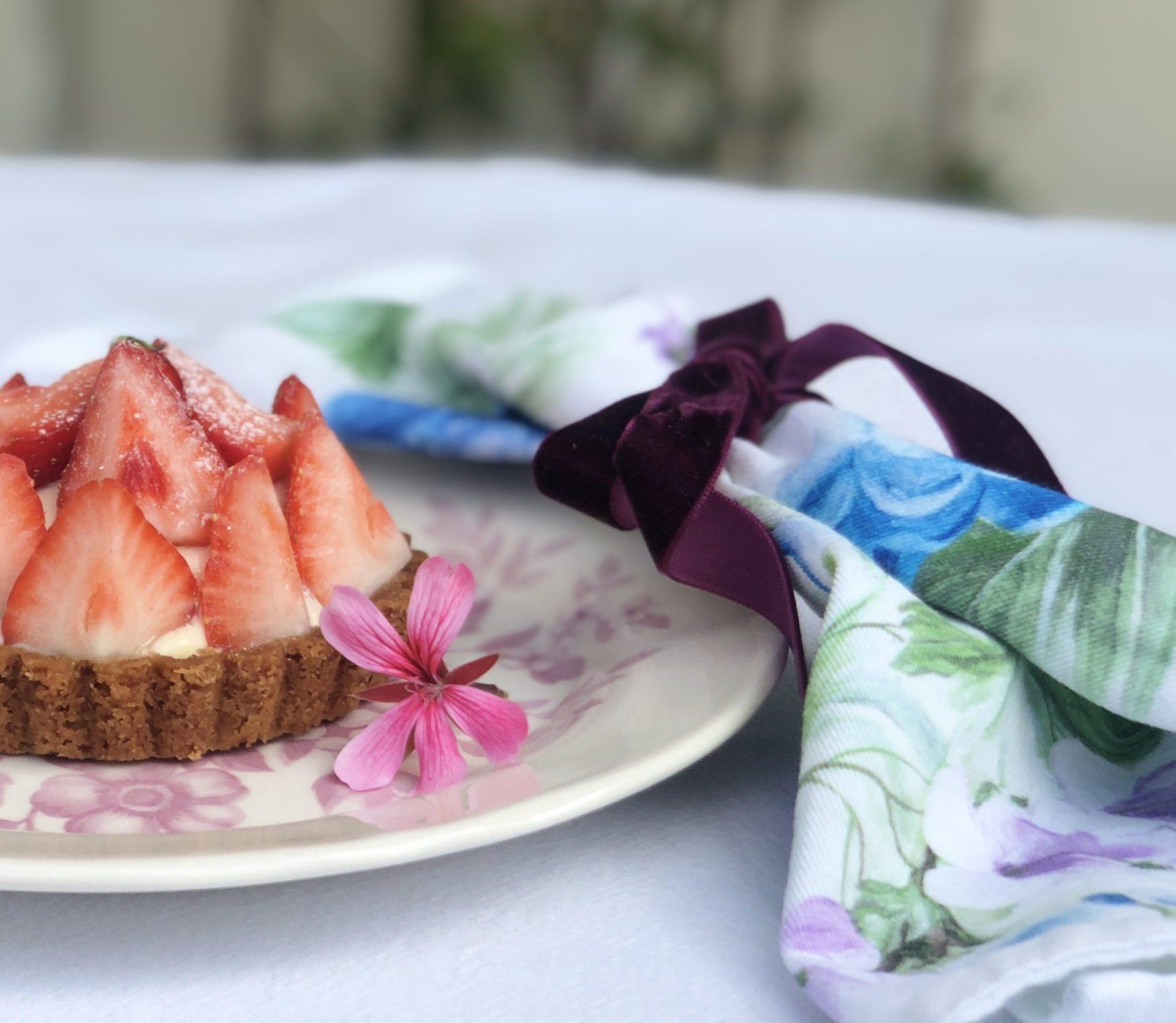 Tarteletje met aardbeien