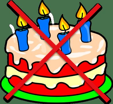 Fødselsdagstræf aflyst