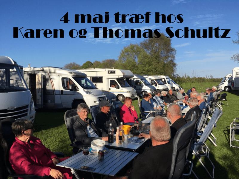 4 maj træf hos Karen og Thomas Schultz, Hampen
