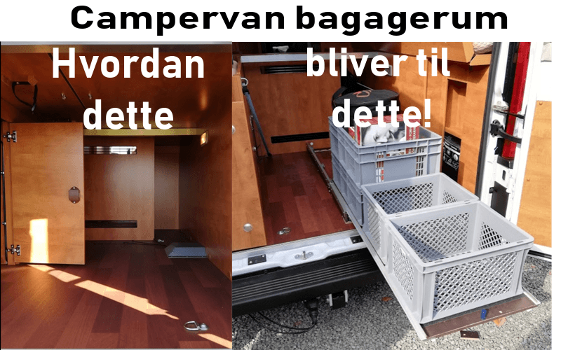Indretning: Campervan bagagerum