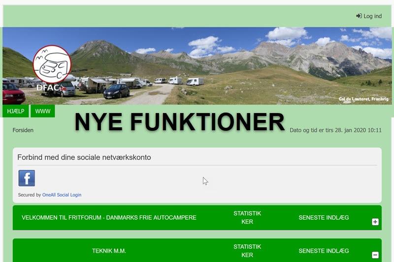 Nye funktioner på FritForum