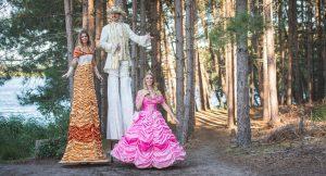 steltlopende prins en prinsessen