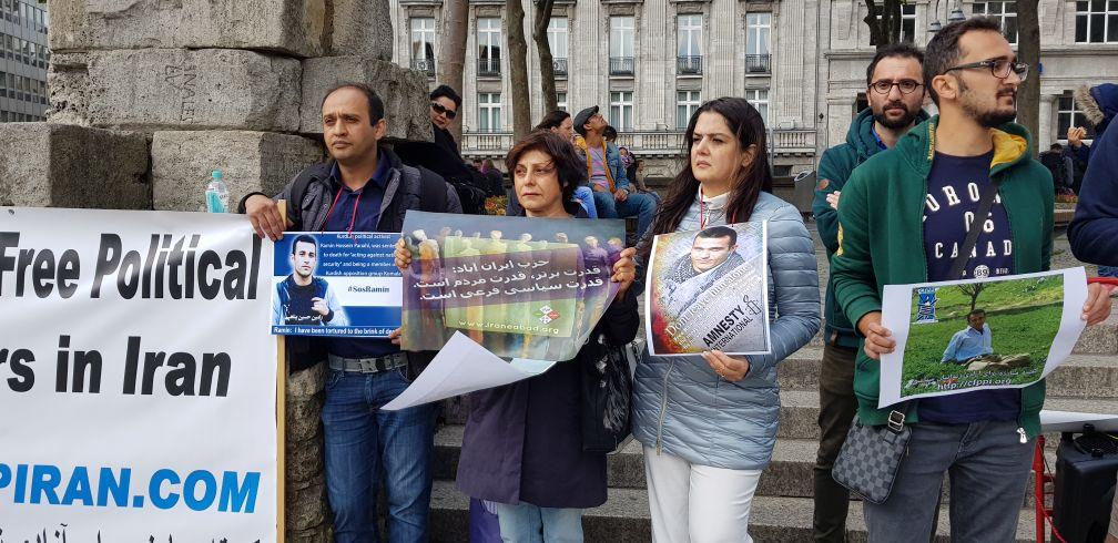 شرکت فعالان حزب ایران آباد در فراخوان به مناسبت روز زندانیان سیاسی در کلن و در اعتراض به حکم اعدام رامین حسین پناهی