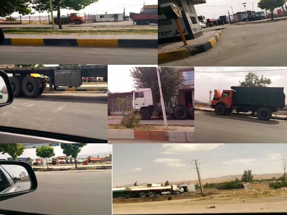استمرار و گسترش اعتصاب کامیونداران در چهارمین روز خود، میاندوآب، بندر امام، ملایر، بندرعباس، بم، …۴ مرداد ۹۷