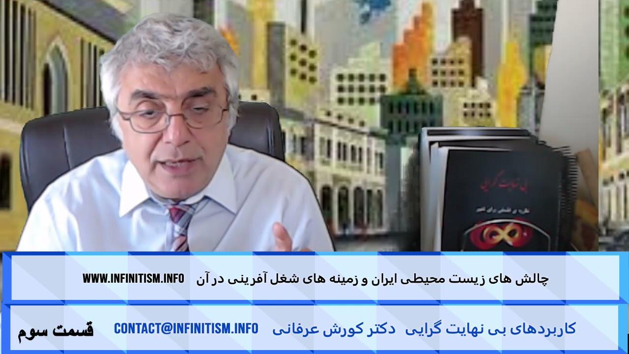 چالش های زیست محیطی ایران و زمینه های شغل آفرینی در آن (قسمت سوم) – دکتر کورش عرفانی