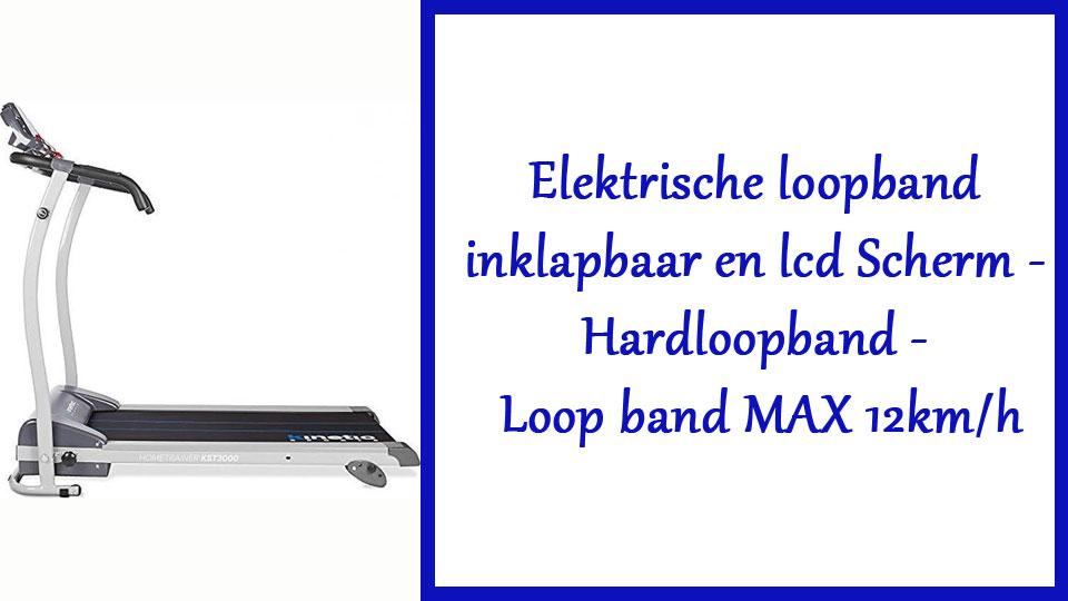 Elektrische loopband inklapbaar en lcd Scherm - Hardloopband - Loop band MAX 12km/h