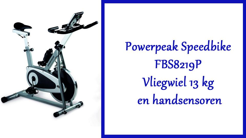 Powerpeak Speedbike FBS8219P Vliegwiel 13 kg en handsensoren