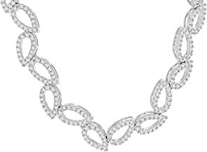 Carissima Gouden halsketting witgoud 750/1000 18 karaat diamant 41 cm 0,17.1493