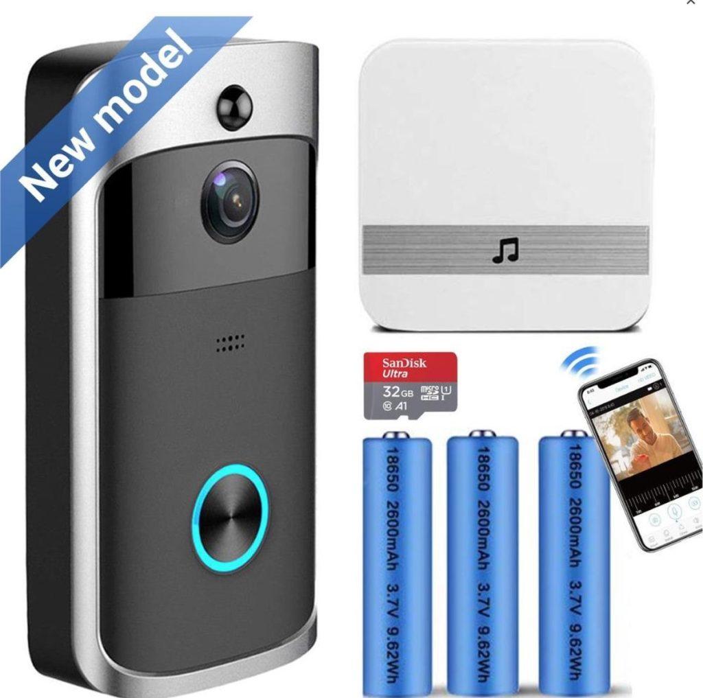 Deurbel met camera - Slimme Video Deurbel Draadloos HD - 2,4GHz Wifi Deurbel - Waterdicht is de De meest verkochte video deurbellen