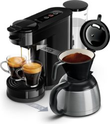 beste koffiemachines: Philips Senseo Switch HD6592/60 - Koffiepadapparaat & Thermoskan - Zwart