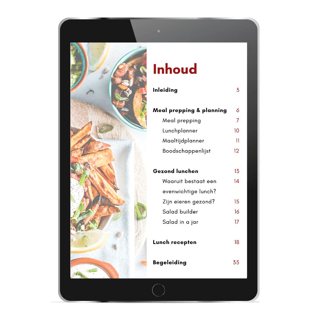 Cover foto 3 e-book: Gezond & Energiek: lunch en meal prepping