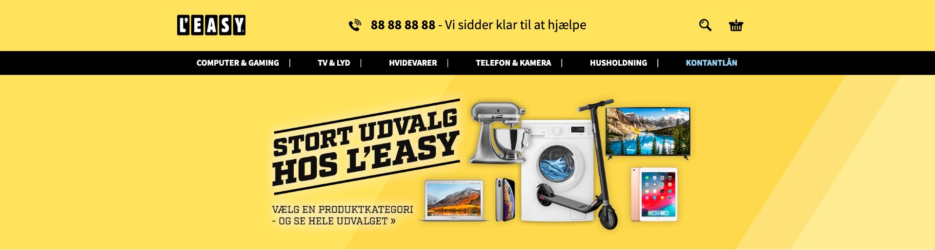 Leasy.dk forside