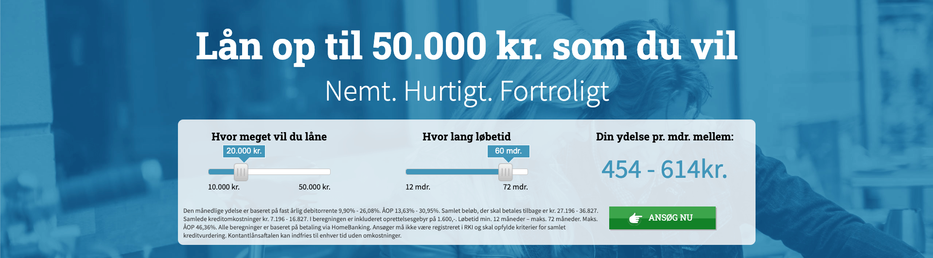 Screenshot - Leasy.dk lån