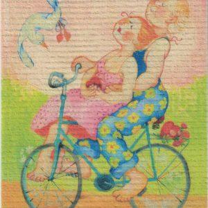 Disktrasa med motiv av tur i kärlek Birgitta Linderholm