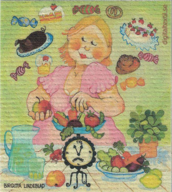 Disktrasa med motiv av Bantartant Birgitta Linderholm