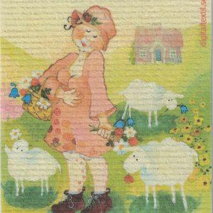 Disktrasa med motiv av Majken Birgitta Linderholm