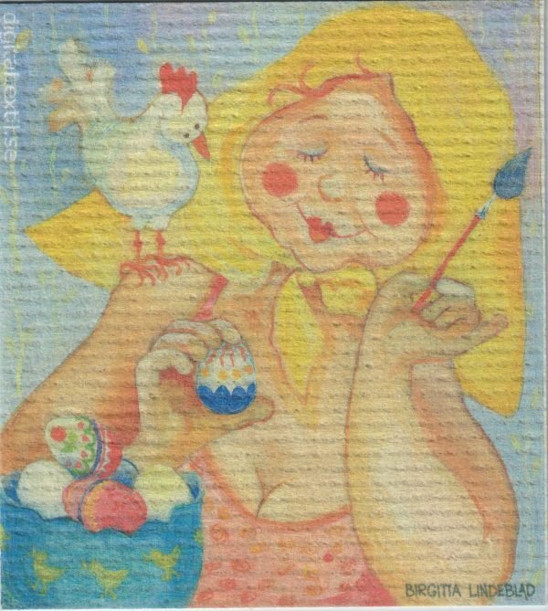 Disktrasa med motiv av Glad Påsk Birgitta Linderholm