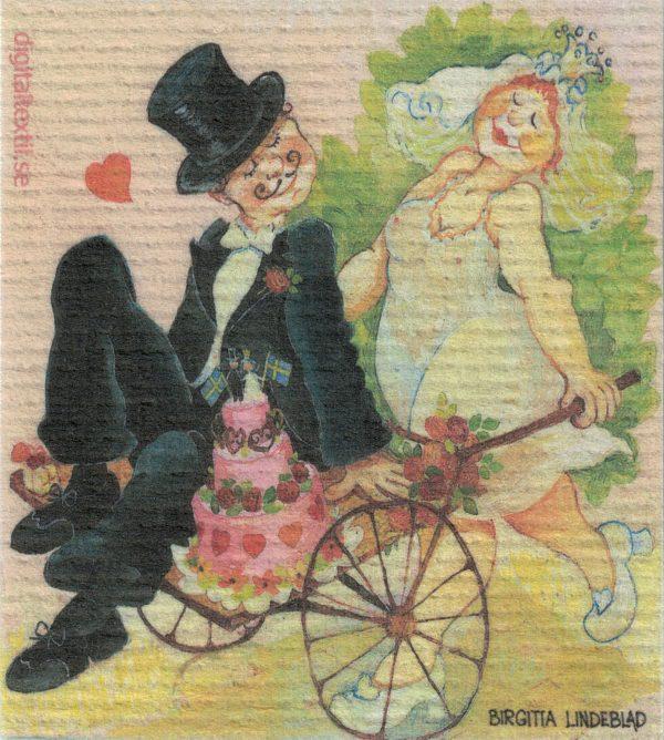 Disktrasa med motiv av Bröllopstider Birgitta Linderholm
