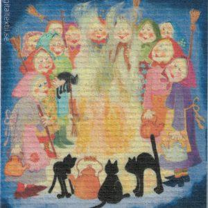 Disktrasa med motiv av Häxfest Birgitta Linderholm