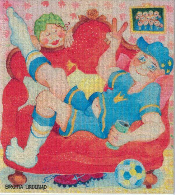 Disktrasa med motiv av Sport Birgitta Linderholm