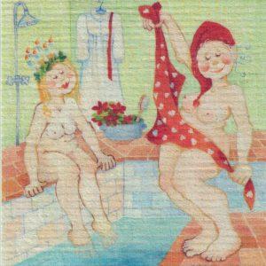 Disktrasa med motiv av Julspa Birgitta Linderholm