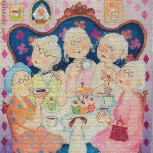 Disktrasa med motiv av Nostalgiklubben Birgitta Linderholm