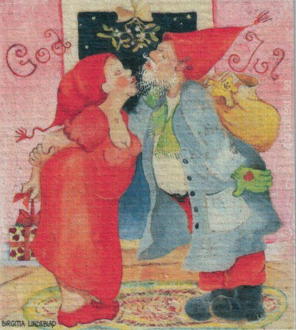 Disktrasa med motiv av under misteln Birgitta Linderholm