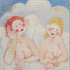 Disktrasa med motiv av Änglar Birgitta Linderholm