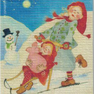 Disktrasa med motiv av lilla gris Birgitta Linderholm