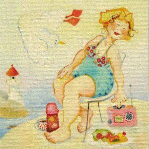 Disktrasa med motiv av sommar Birgitta Lindeblad